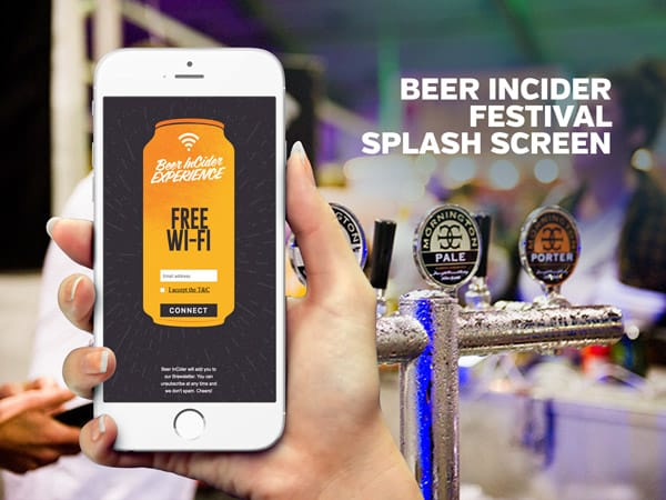 Beer InCider Festival Splash Screen | PopUp WiFi - Temporary Event WiFi
