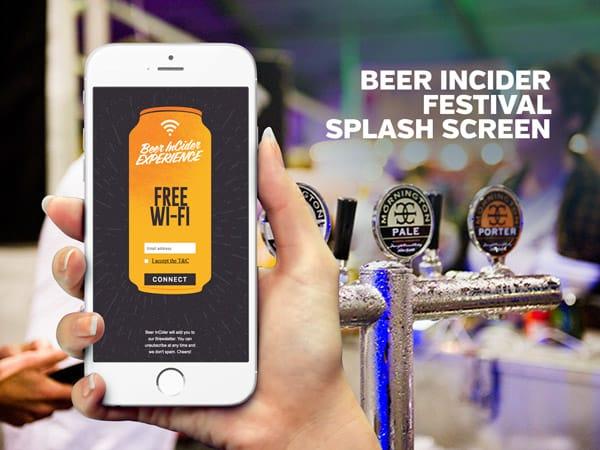 Beer InCider Festival Splash Screen | PopUp WiFi - Temporary Event WiFi