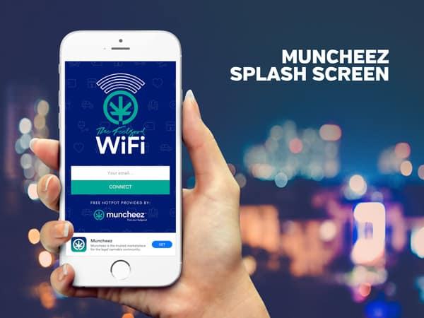 Muncheez Splash Screen | PopUp WiFi - Temporary Event WiFi