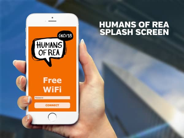 Humans of REA Splash Screen | PopUp WiFi - Temporary Event WiFi