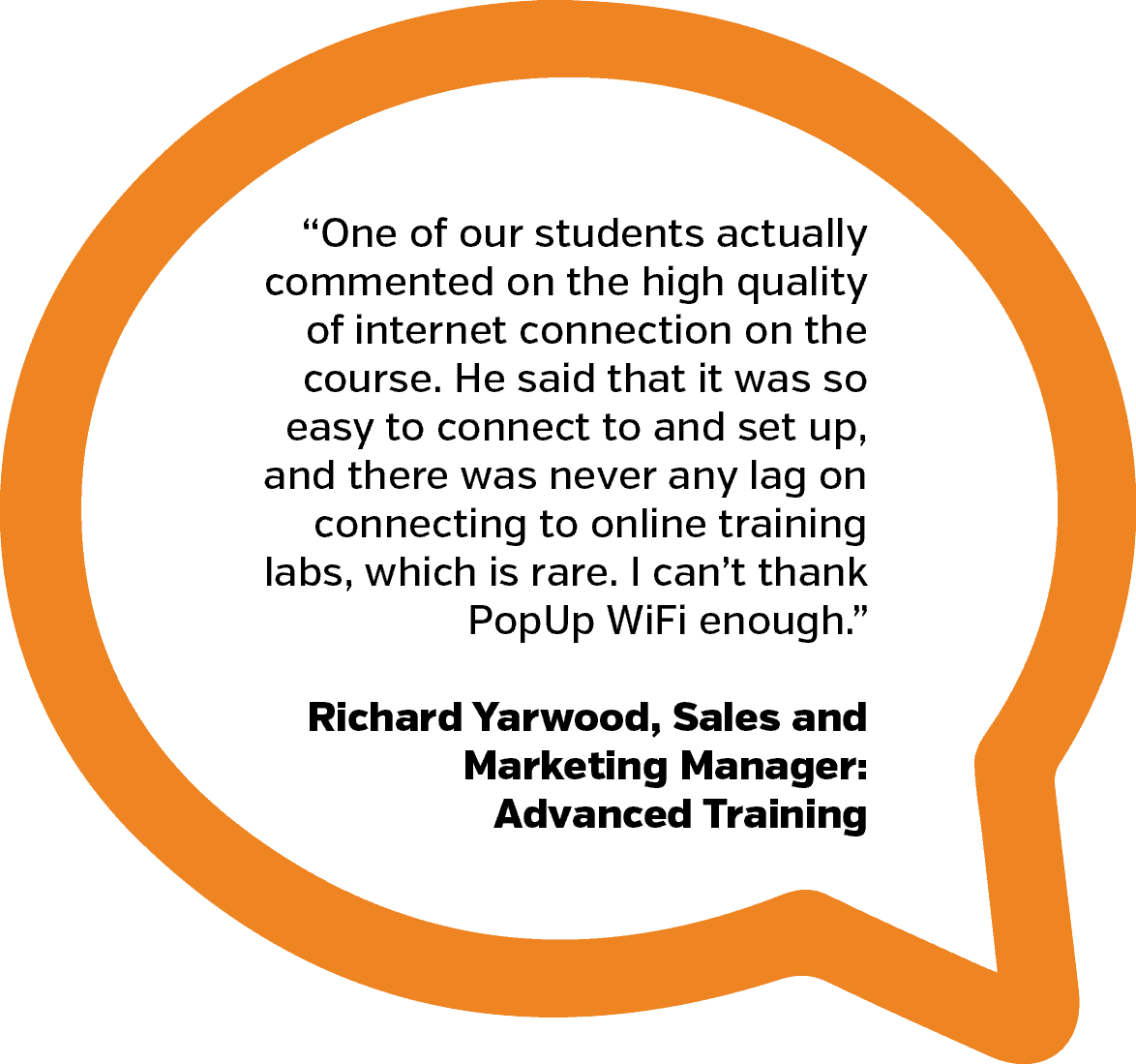 Advanced Training Testimonial | PopUp WiFi - Temporary Event WiFi