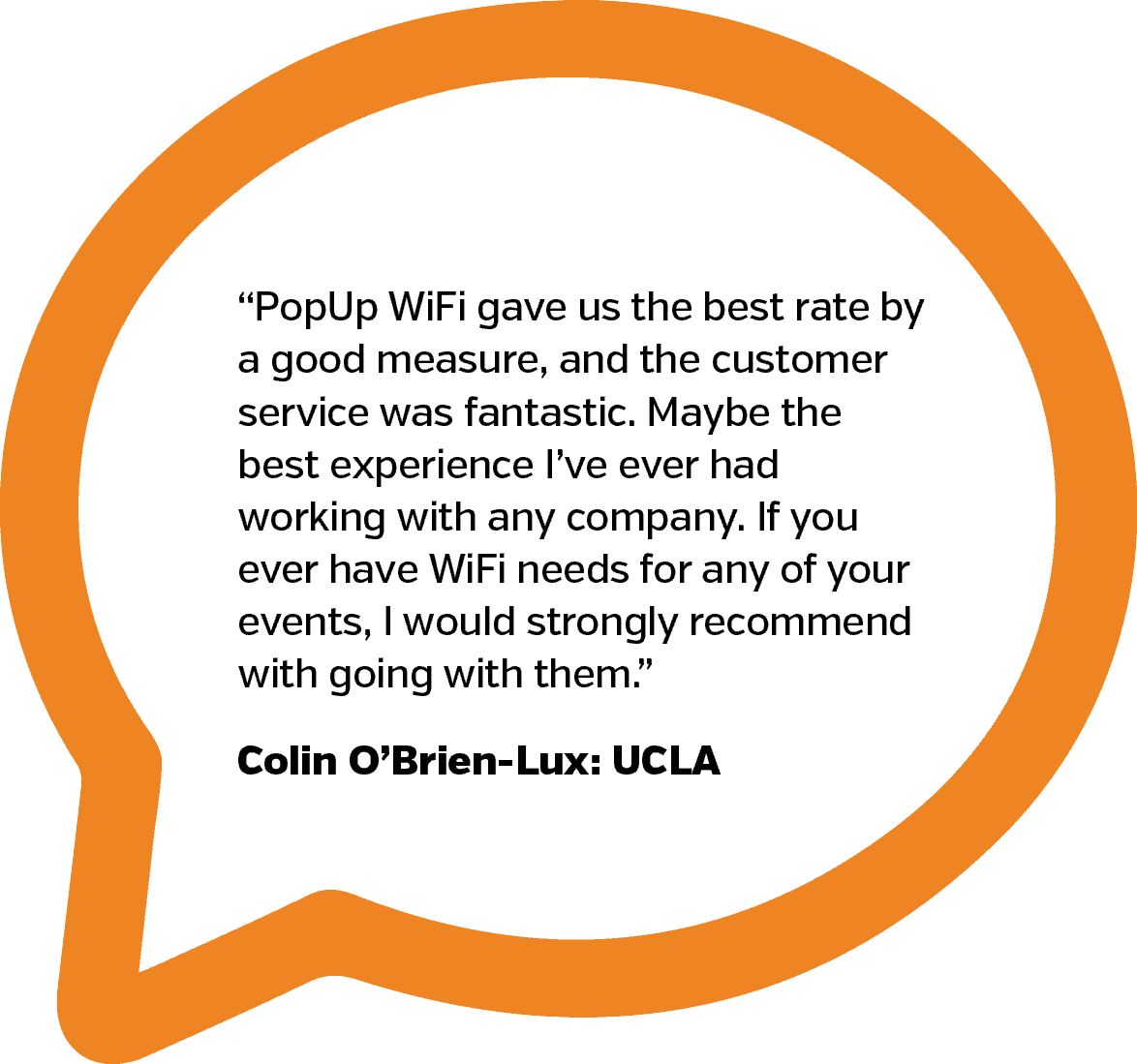 UCLA Testimonial | PopUp WiFi - Temporary Event WiFi