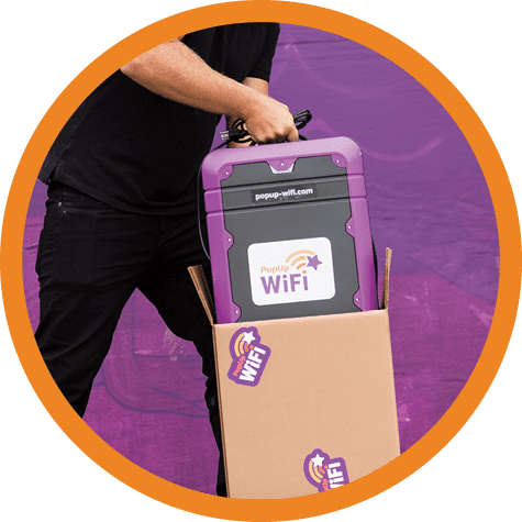 Image of PopUp WiFi unit being loaded into a box