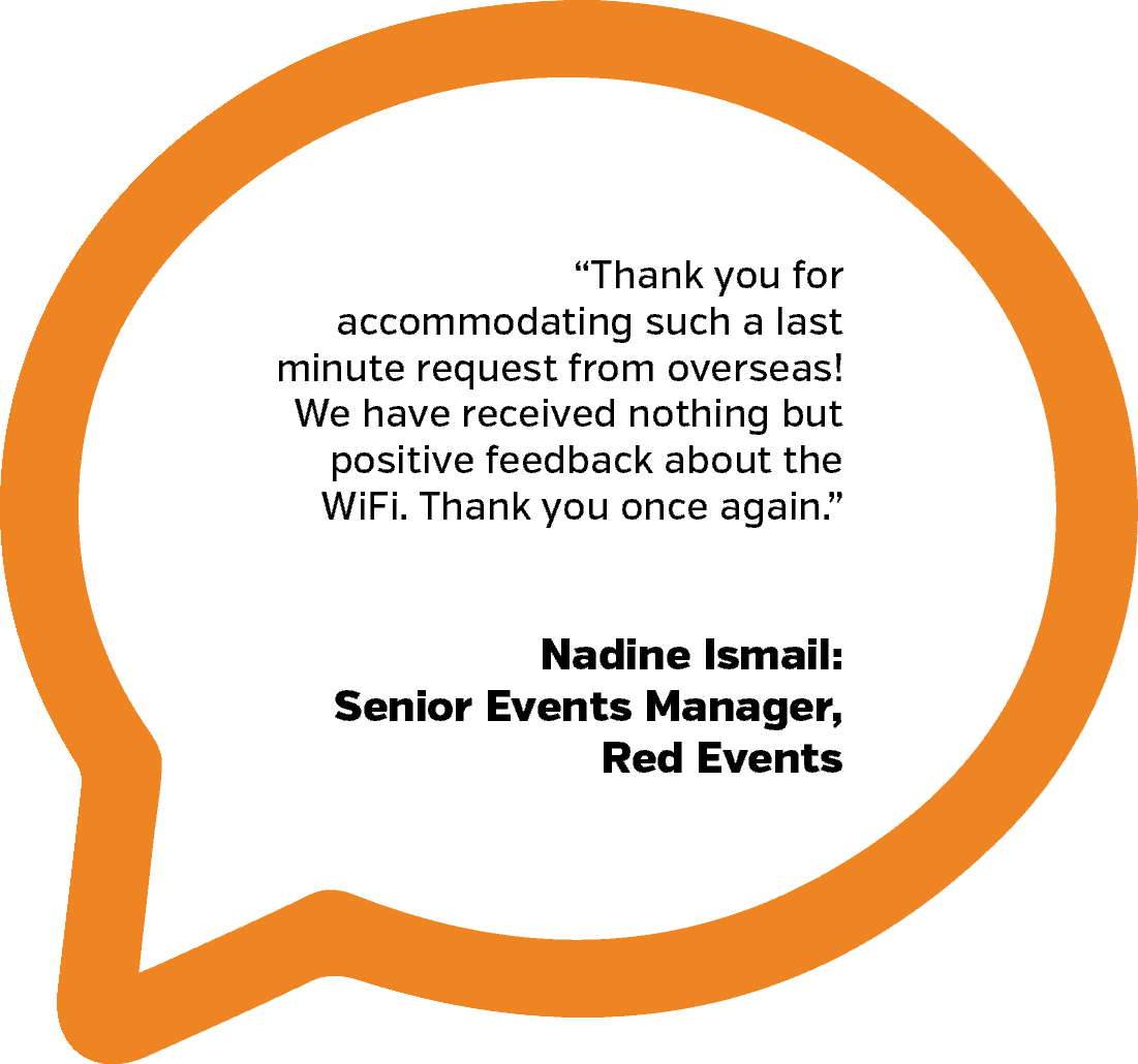 Red Events Testimonial | PopUp WiFi - Temporary Event WiFi